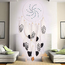 Big Indian Dream Catcher Hanging Handmade Craft Car Wall Decoration Decor White