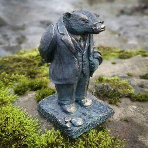 Badger Wind in the Willows Statue Bronze Finish   Indoor + Garden Decor Ornament
