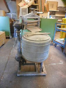 Alte antike MIELE Waschmaschine Messing DEKO ca. 80 - 100 Jahre alt mit Mangel