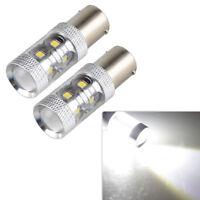 2PCS P21W 1156 BA15S Cree LED Turn Signal Reverse Bulb 6000K White Super Bright