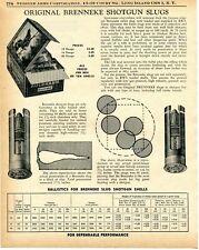 1957 Print Ad of RWS Brenneke Slug Shotgun Shells