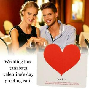 Wedding Tanabata Valentine's Day Greeting Card Creative Bless Love J6V0