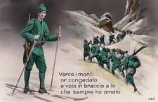 A7710) ALPINI, VARCO I MONTI ... E VOLO IN BRACCIO A TE CHE SEMPRE HO AMATO.