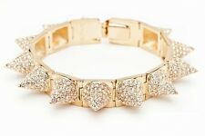 CC SKYE Punk Princess Pave Spike Bracelet in Gold