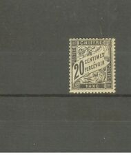 "FRANCE STAMP TIMBRE TAXE N° 17 ""TYPE DUVAL 20c NOIR"" NEUF xx TTB, SIGNE"