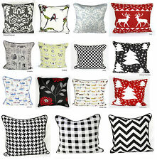 """100% Cotton's Designer Inspired Luxury Cushion Covers Size 18""""x18"""" Postage Free"""