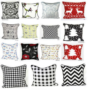 Echo 100% Cotton's Designer Inspired Luxury Cushion Covers Size 18x18inch