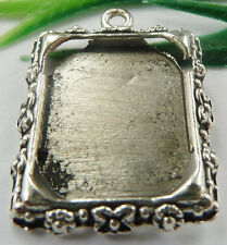 Wholesale free ship 40pcs tibet silver frame charms 25x19mm