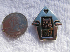 RARE! SILPADA Sterling Silver, Copper &  Brass CAT & DOG - DOG HOUSE PIN!  I0664