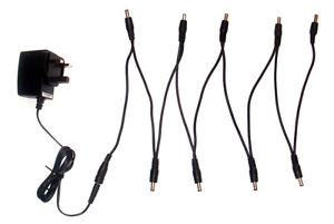 9V EFFECTS PEDAL POWER SUPPLY ADAPTER & 6 7 8 9 WAY DAISY CHAIN TC ELECTRONICS