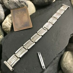 "Rare Art Deco Sterling Silver 1930s Vintage Watch Band 5/8"" nos Amcraft USA"