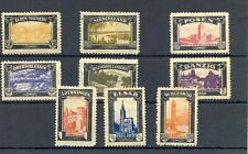 GERMANY 9 x POSTER STAMP 1920 ca. COLONIES AREA MOST (*) - F/VF