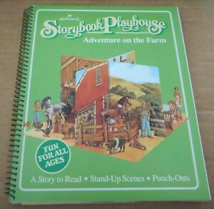Adventure on the Farm Hallmark Storybook Playhouse Story Scenes Punch Outs New