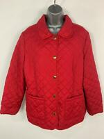 WOMENS BHS RED LIGHT WEIGHT CASUAL DIAMOND QUILTED RAIN COAT JACKET PLUS SIZE 18