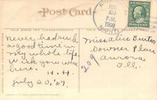 RARE 1909 Riverside, Mont., DPO 1908-1909, Devil's Ink Stand, Yellowstone PPPC
