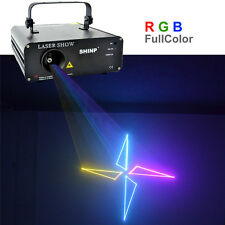 SHINP RGB Animation DMX Laser Projector Lights PRO DJ KTV Home Stage Lighting