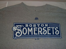 Rare MLB Boston Red Sox SOMERSETS Majestic T-Shirt Excellent Condition Sz XL