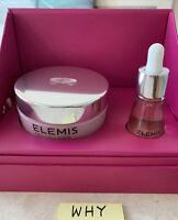 Elemis Pro-Collagen Rose Duet: Rose Cleansing Balm 3.5oz,Rose Facial Oil FULL SZ