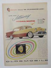 Original Print Ad 1955 OLDSMOBILE Jetaway Hydra-Matic Vintage Artwork