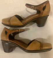 DANSKO  Tan Leather Heel Pump Ankle Strap Mary Jane Size 38