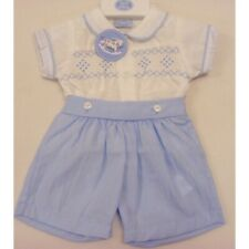 TRADITIONAL SMOCKED ROMPER WITH PETER PAN COLLAR ROMANY SPANISH STYLE Smart baby
