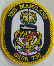 PUS266 - US NAVY USS MARYLAND SSBN 738 PATCH SOUS-MARIN NUCLEAIRE