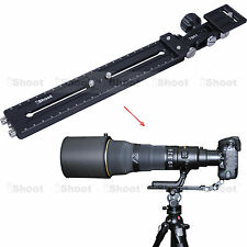 Long-Zoom Lens Support Holder + Camera Quick Release Plate for Tripod Ball Head