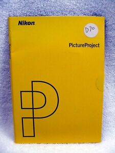 Nikon Picture Project 1.0 Software Reference Manual - 2 CD Discs | for D70 | $9