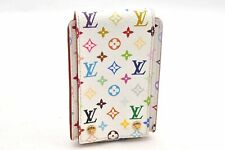 Authentic Louis Vuitton Monogram Multicolor iPod Case White LV 93910