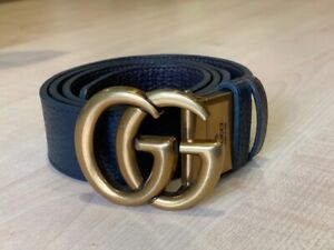 Gucci Reversible Marmont leather belt Double GG buckle