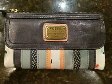 Fossil Multi Color Wallet Leather Long Live Vintage