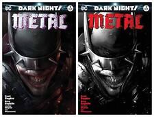 DARK NIGHTS METAL #3 FRANCESCO MATTINA TRADE AND B&W VARIANT SET LTD 3000/1500