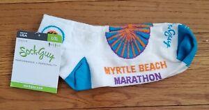 Sock Guy Ltd Edition Myrtle Beach Marathon White w/Colors. Size  L/XL  NWT