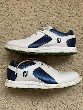 New listing Boys FootJoy FJ Sport Golf Shoes #45039K White & Blue - Size 5, US 6, EUR 38