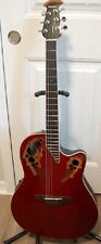 Ovation Acoustic / Electric CE48 EXCELLENT Ruby Red