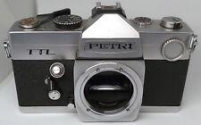 Vintage 1970's Petri TTL 35mm Film SLR stills camera - uses M42 mount lenses