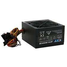 Black 500W 12CM Silent Fan PC Power Supply ATX Computer PSU Sata