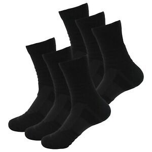 6 Pairs Mens Performance Cotton Cushion Crew Athletic Hiking Running Work Socks