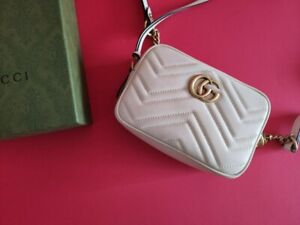 Gucci GG Marmont Matelassé Mini White Bag