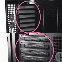 10 stücke Schwarz PCI Slot Abdeckung Staubfilter Blindplatte Hartstahlschra G3K3