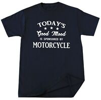 Motorcycle T-shirt Funny Bike Riding Mood Racing Lover Biker Rider Birthday Gift