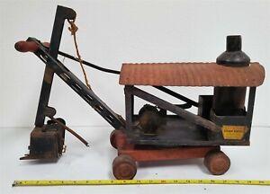 P112 VINTAGE 1920'S PRESSED STEEL KEYSTONE STEAM SHOVEL