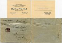 FRANCE HOTEL PFEIFFER STRASBOURG 1931 COLONIAL EXPO 40c FRANKING to AUSTRIA
