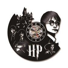 Harry Potter Art CD Record Wall Clock Vinyl Record Creative Antique LED Hollow