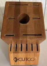 New listing Cutco Galley + 6 Set Knife Block (13-Slot) Honey Oak Solid Wood Usa made
