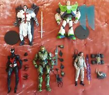 Misc McFarlane, Ghostbusters, Halo Infinite Action Figure lot of 5