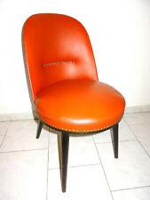 Vintage Mid Century 50s 50er Jahre Stuhl Chair Leder Nieten rötlich Top-Zustand