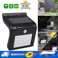 LED Lampe Solaire Projecteur Capteur Détecteur Mouvement Jardin Extérieur IP65