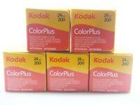 5 x KODAK COLORPLUS 200 35mm 24Exp CHEAP COLOUR PRINT FILM -1st CLASS ROYAL MAIL