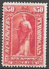 USA $50 dull rose Newspaper stamp Scott PR 124 beautifull mint no gum see scans
